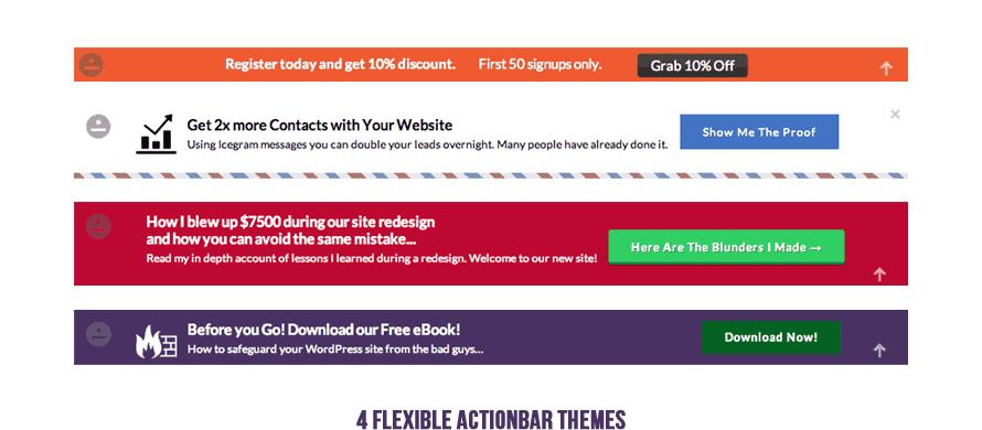6 Flexible Action bar Themes