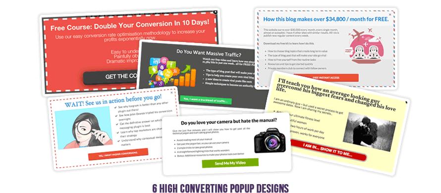 6 High Converting Popup Designs