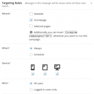 Targeting Rules - Icegram