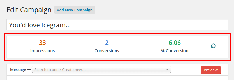 Edit Campaign Page Snapshot