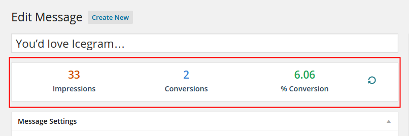 Edit Message Page Analytics