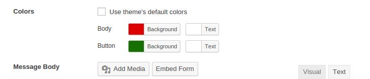 Customization Option