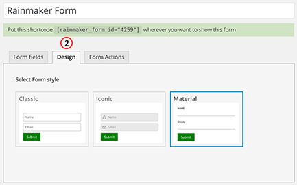 Select form design