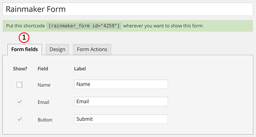 Select form fields