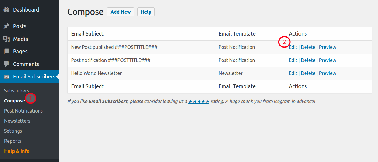 Send Post Notification Emails