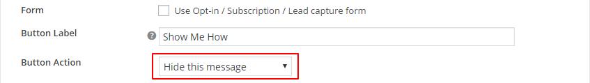 Hide Message on CTA Button Click