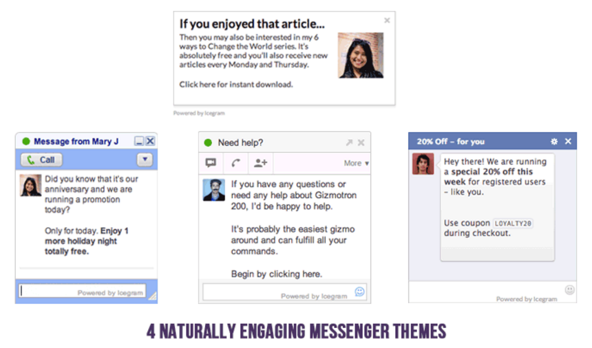 Icegram 4 free messenger themes