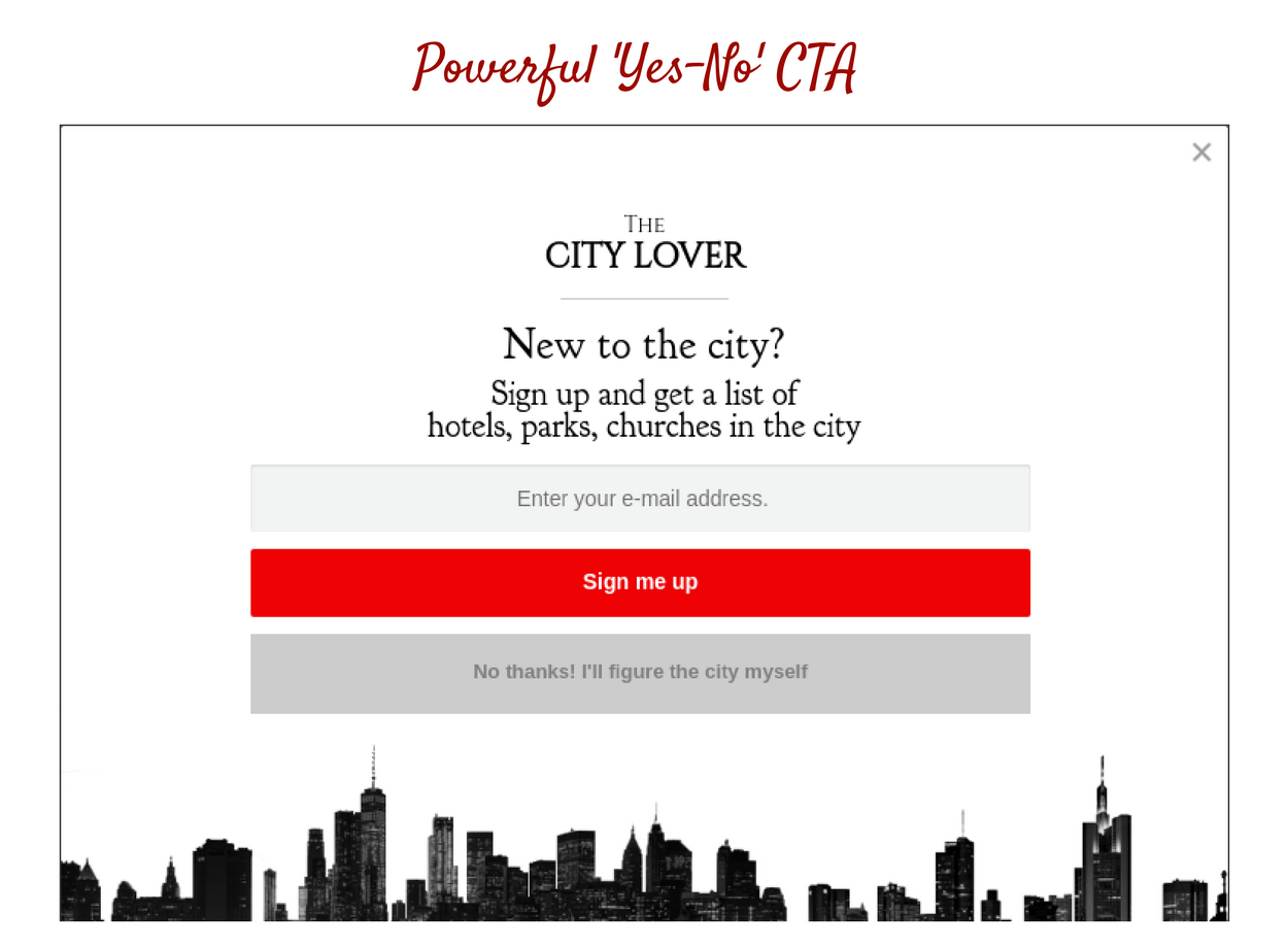 Powerful Yes-No CTA