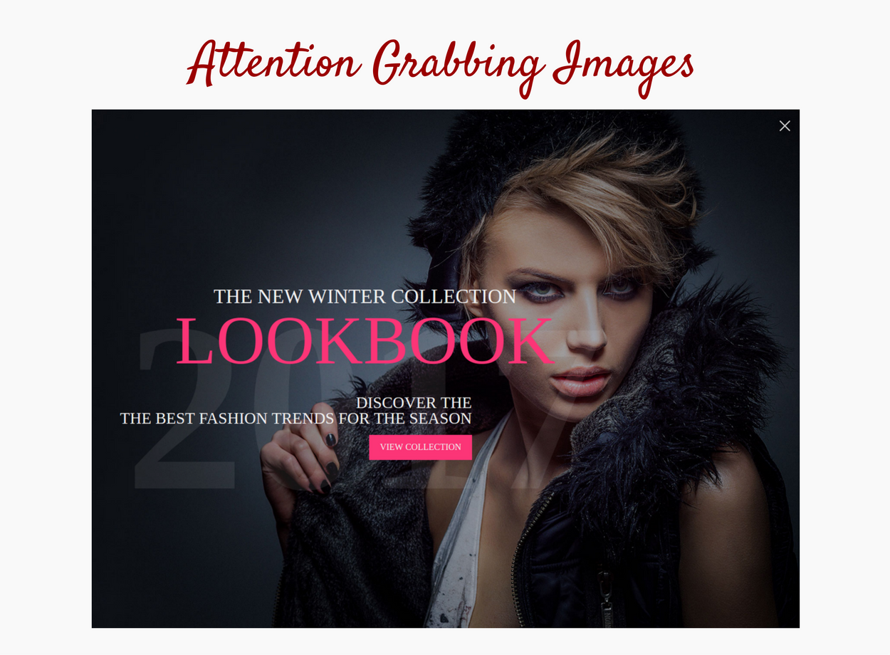 Attention grabbing images