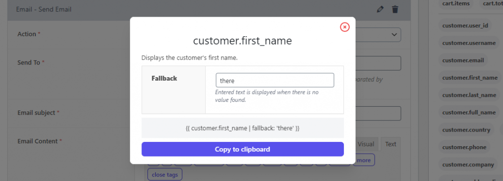 Personalization - Customer Name Placeholder