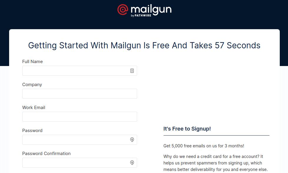 Mailgun Signup