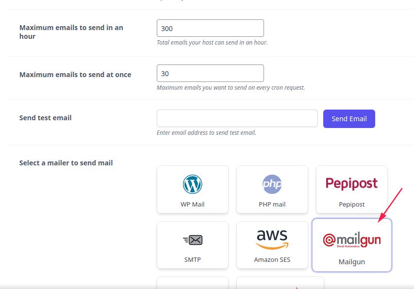 Email Sending Setting – Mailgun mailer