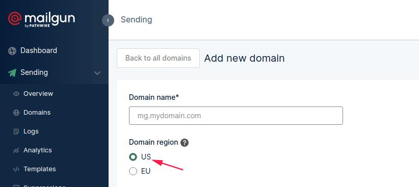 Domain region