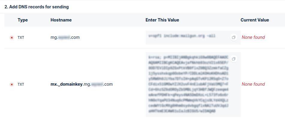 Add DNS records