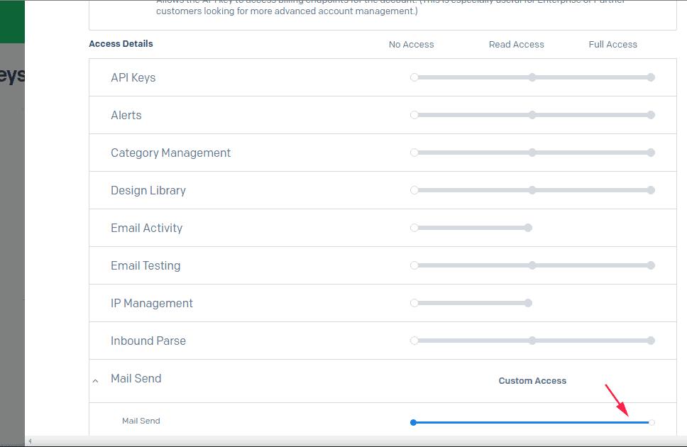 API key permissions