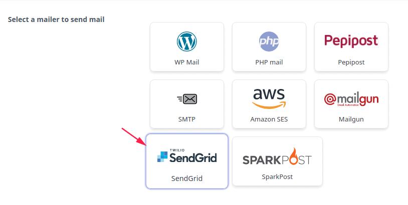 Select SendGrid Mailer