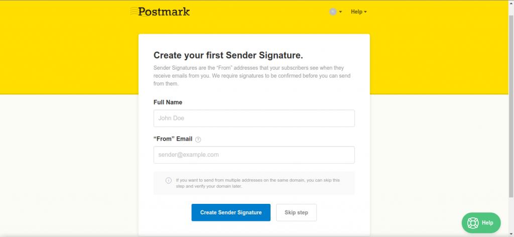 Create Sender Signature