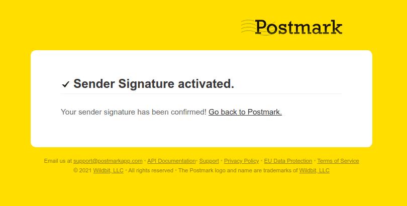 Sender Signature activated