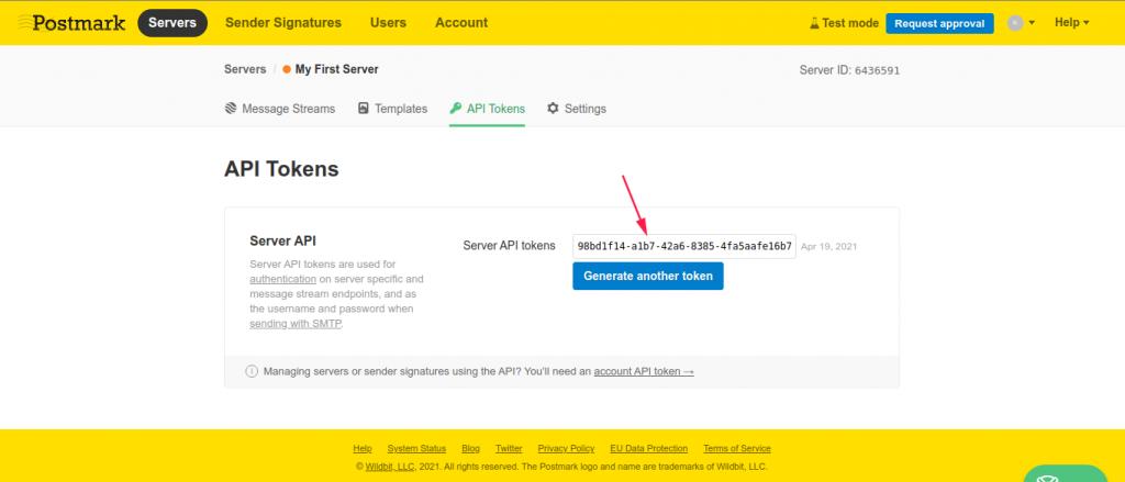 Server API tokens